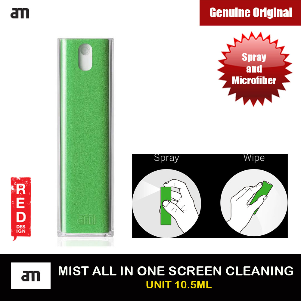 Picture of AM Get Clean Microfiber and Spray 2 in 1 Screen Cleaner for iPhones iPads Smartphones Tablets Laptops 10.5ml (Green) Red Design- Red Design Cases, Red Design Covers, iPad Cases and a wide selection of Red Design Accessories in Malaysia, Sabah, Sarawak and Singapore