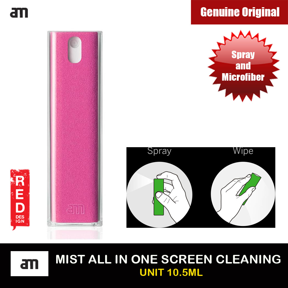 Picture of AM Get Clean Microfiber and Spray 2 in 1 Screen Cleaner for iPhones iPads Smartphones Tablets Laptops 10.5ml (Pink) Red Design- Red Design Cases, Red Design Covers, iPad Cases and a wide selection of Red Design Accessories in Malaysia, Sabah, Sarawak and Singapore