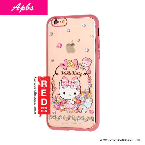 Picture of Apbs Soft TPU Electroplating Case with crystals for iPhone 6 iPhone 6S 4.7 - Hello Kitty Floral Apple iPhone 6S 4.7- Apple iPhone 6S 4.7 Cases, Apple iPhone 6S 4.7 Covers, iPad Cases and a wide selection of Apple iPhone 6S 4.7 Accessories in Malaysia, Sabah, Sarawak and Singapore
