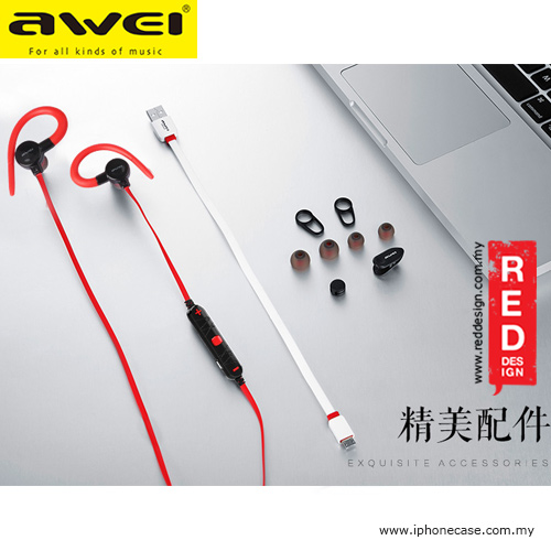 Picture of Awei Magnet Bluetooth Wireless Sports Earphones with Ear Hook A620BL