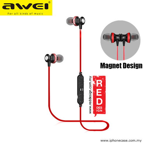 Picture of Awei Bluetooth Wireless Sports Earphones for Calls and Music A980BL - Red Red Design- Red Design Cases, Red Design Covers, iPad Cases and a wide selection of Red Design Accessories in Malaysia, Sabah, Sarawak and Singapore