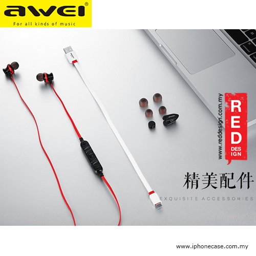 Picture of Awei Bluetooth Wireless Sports Earphones for Calls and Music A980BL - Red