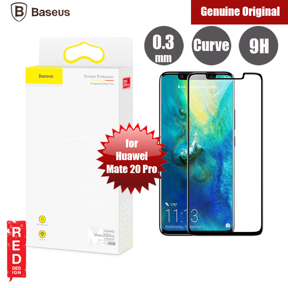 Picture of Baseus Full Coverage Tempered Glass for Huawei Mate 20 Pro (Black) Huawei Mate 20 Pro- Huawei Mate 20 Pro Cases, Huawei Mate 20 Pro Covers, iPad Cases and a wide selection of Huawei Mate 20 Pro Accessories in Malaysia, Sabah, Sarawak and Singapore