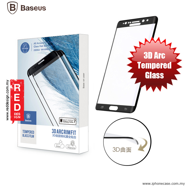 Picture of Baseus 3D Arc Rimfit Full Screen Tempered Glass for Samsung Galaxy Note 7 Note FE - Gunmetal Black Samsung Galaxy Note 7 Note FE- Samsung Galaxy Note 7 Note FE Cases, Samsung Galaxy Note 7 Note FE Covers, iPad Cases and a wide selection of Samsung Galaxy Note 7 Note FE Accessories in Malaysia, Sabah, Sarawak and Singapore