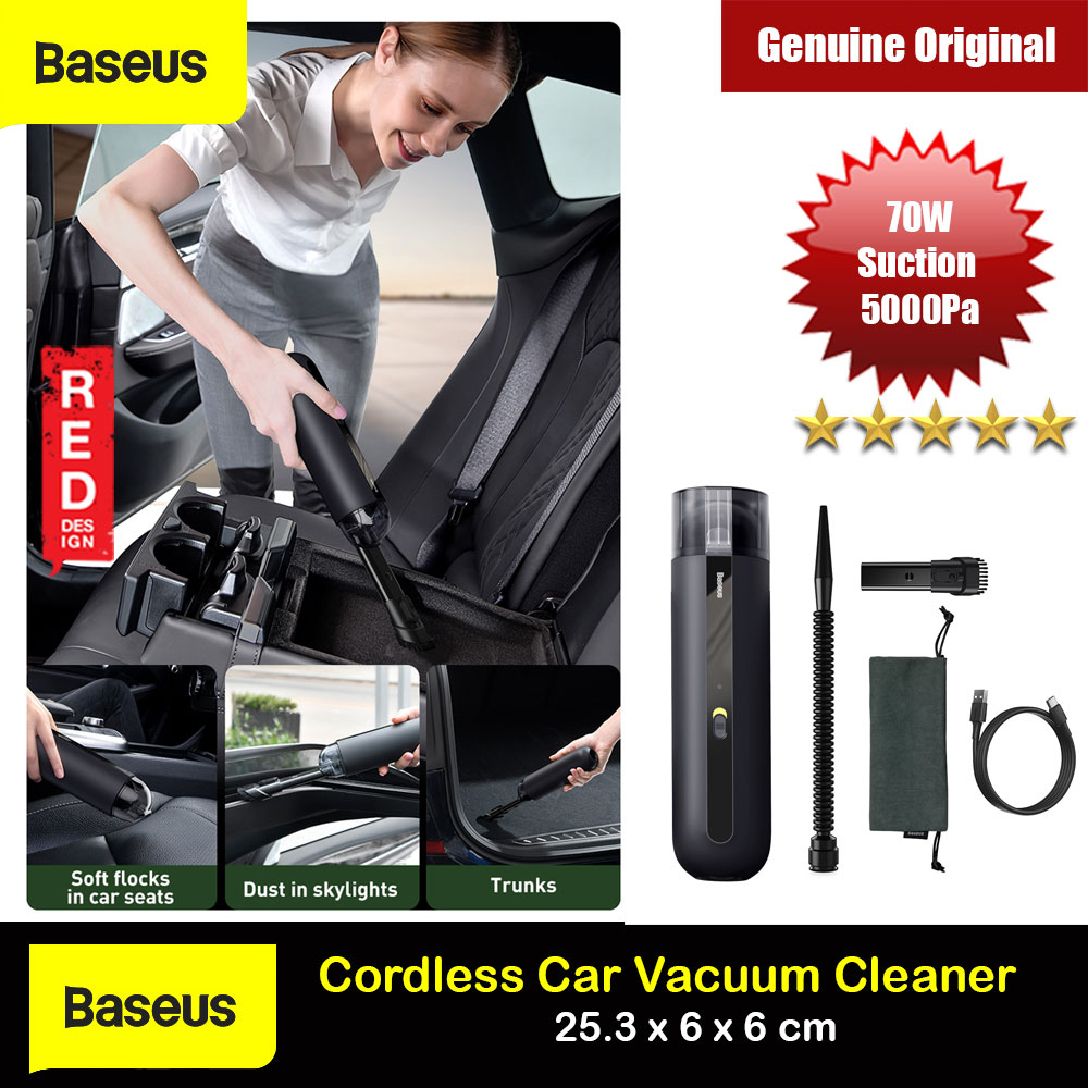 Picture of Baseus Mini and Portable Strong Suction Rechargable Cordless Wireless WireFree Car Vacuum Cleaner Bed Vacuum Cleaner Sofa Vacuum Cleaner (Black) Red Design- Red Design Cases, Red Design Covers, iPad Cases and a wide selection of Red Design Accessories in Malaysia, Sabah, Sarawak and Singapore