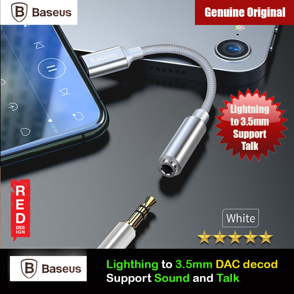 Picture of Baseus Audio Converter Ligntning MALE to 3.5mm FEMALE Audio Listenning Mic Talk Call DAC Decoding for iPhone 8 iPhone XS Max iPhone 11 Pro Max Red Design- Red Design Cases, Red Design Covers, iPad Cases and a wide selection of Red Design Accessories in Malaysia, Sabah, Sarawak and Singapore
