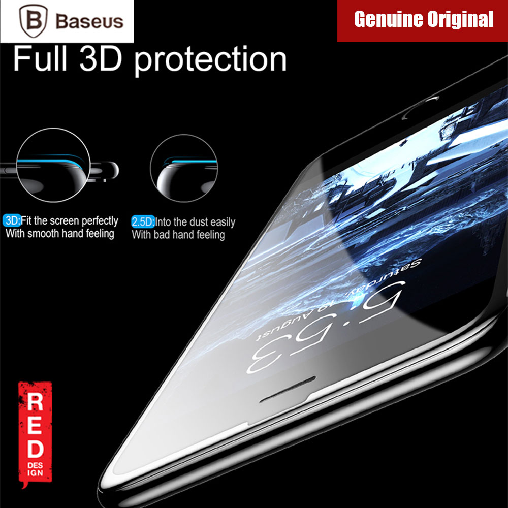 Picture of Apple iPhone 7 Plus 5.5  | Baseus Soft PET Edge Full Coverage 3D Tempered Glass for Apple iPhone 8 Plus 7 Plus 6S Plus (Black)
