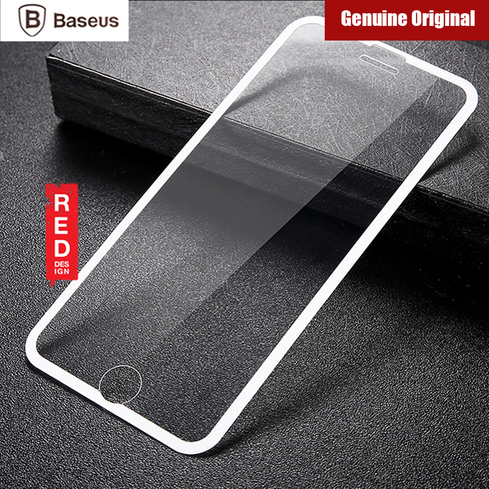 Picture of Apple iPhone 8 Plus  | Baseus Soft PET Edge Full Coverage 3D Tempered Glass for Apple iPhone 8 Plus 7 Plus 6S Plus (White)