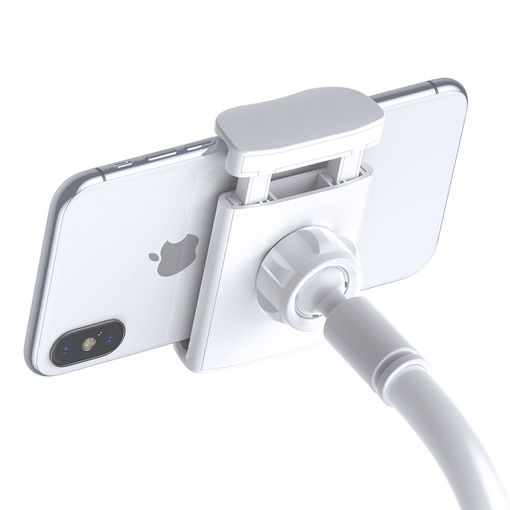 Picture of Baseus Adjustable Aluminum Alloy Light Weight Easy Adjust Lazy Phone Holder (Silver)