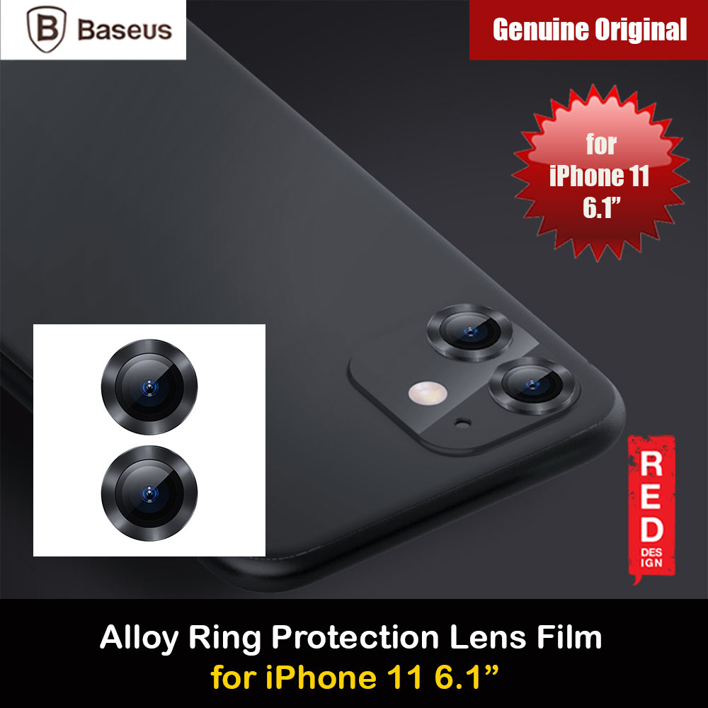 Picture of Baseus Alloy Ring Lens Film Protector Independent Fully Cover Lens Film for iPhone 11 6.1  (Black) Apple iPhone 11 6.1- Apple iPhone 11 6.1 Cases, Apple iPhone 11 6.1 Covers, iPad Cases and a wide selection of Apple iPhone 11 6.1 Accessories in Malaysia, Sabah, Sarawak and Singapore