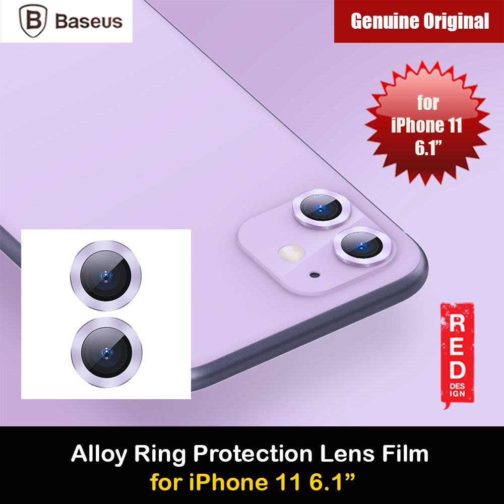 Picture of Baseus Alloy Ring Lens Film Protector Independent Fully Cover Lens Film for iPhone 11 6.1  (Purple) Apple iPhone 11 6.1- Apple iPhone 11 6.1 Cases, Apple iPhone 11 6.1 Covers, iPad Cases and a wide selection of Apple iPhone 11 6.1 Accessories in Malaysia, Sabah, Sarawak and Singapore