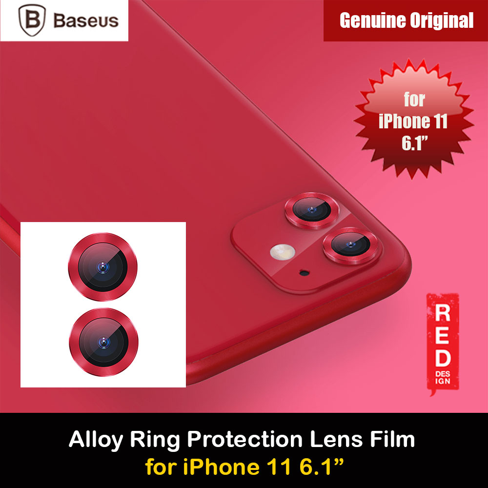 Picture of Baseus Alloy Ring Lens Film Protector Independent Fully Cover Lens Film for iPhone 11 6.1  (Red) Apple iPhone 11 6.1- Apple iPhone 11 6.1 Cases, Apple iPhone 11 6.1 Covers, iPad Cases and a wide selection of Apple iPhone 11 6.1 Accessories in Malaysia, Sabah, Sarawak and Singapore