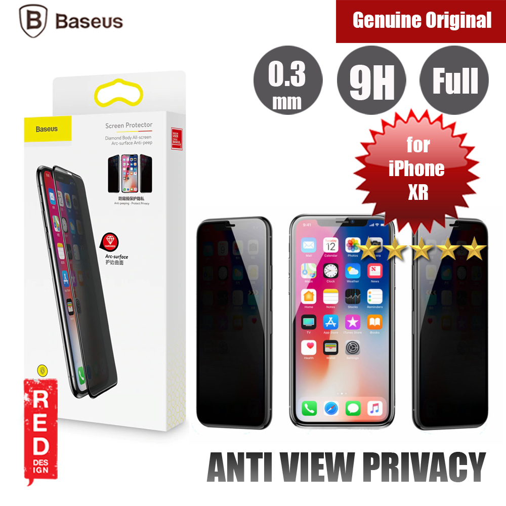 Picture of Baseus 3D Anti Peep View Spy Full Coverage Tempered Glass for Apple iPhone XR (Anti Peep View Black) Apple iPhone XR- Apple iPhone XR Cases, Apple iPhone XR Covers, iPad Cases and a wide selection of Apple iPhone XR Accessories in Malaysia, Sabah, Sarawak and Singapore