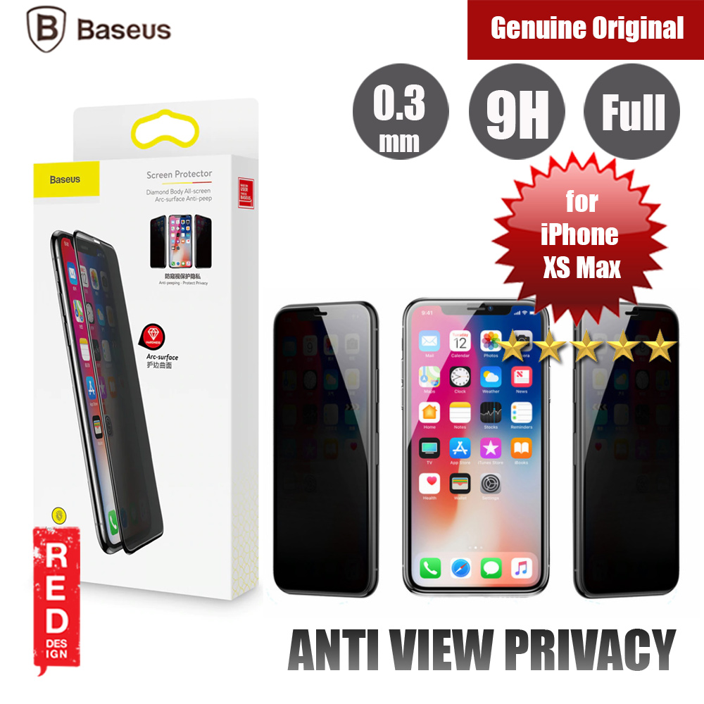 Picture of Baseus 3D Anti Peep View Spy Full Coverage Tempered Glass for Apple iPhone XS Max (Anti Peep View Black) Apple iPhone XS Max- Apple iPhone XS Max Cases, Apple iPhone XS Max Covers, iPad Cases and a wide selection of Apple iPhone XS Max Accessories in Malaysia, Sabah, Sarawak and Singapore