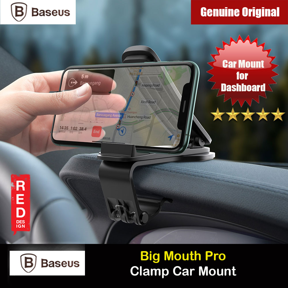 Picture of Baseus Big Mount Pro Car Mount Big Clamp Car Mount for Car Dashboard (Black) Red Design- Red Design Cases, Red Design Covers, iPad Cases and a wide selection of Red Design Accessories in Malaysia, Sabah, Sarawak and Singapore