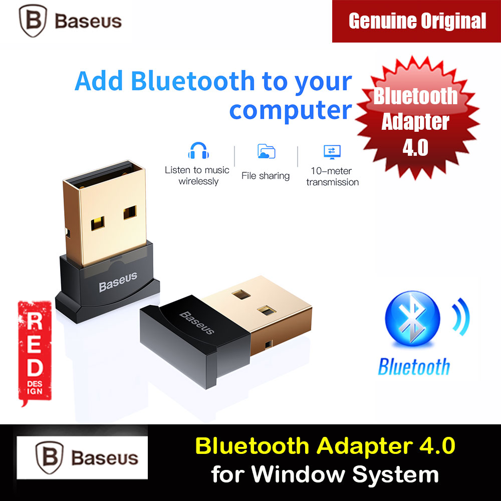 Picture of Baseus USB Bluetooth 4.0 Adapter External Bluetooth Adapter Compatible with Window for connect bluetooth headsets earphone speakers mouse keyboards mobile phones tablets gamepads (Black) Red Design- Red Design Cases, Red Design Covers, iPad Cases and a wide selection of Red Design Accessories in Malaysia, Sabah, Sarawak and Singapore
