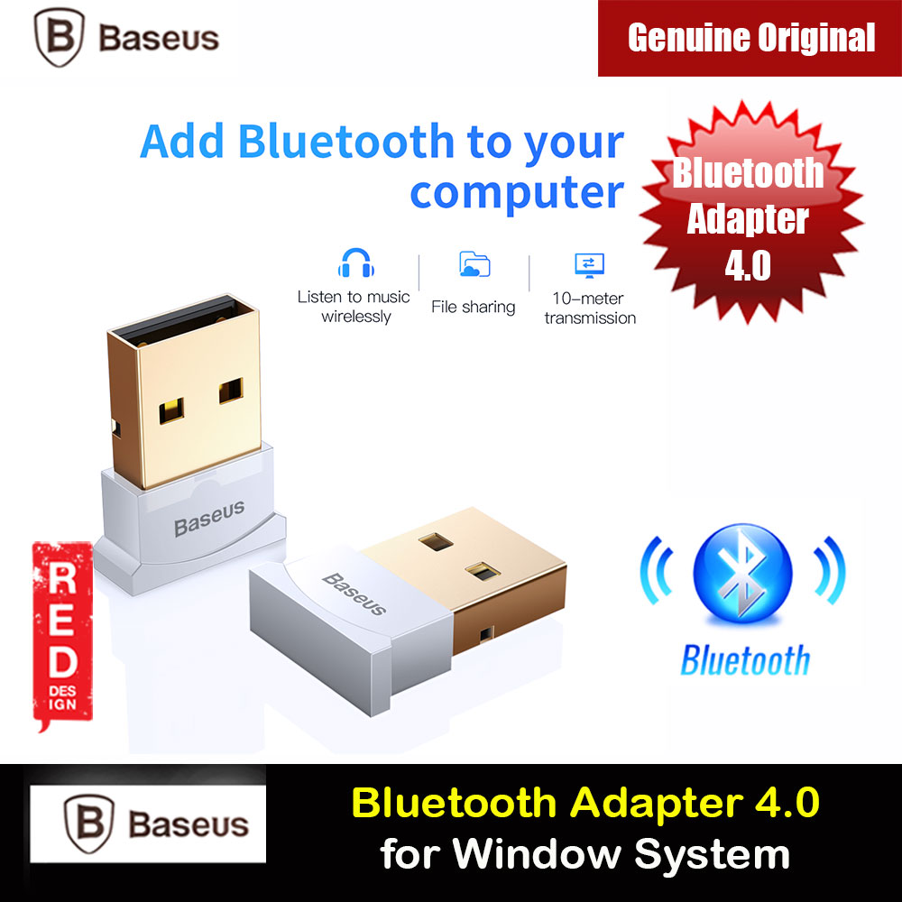 Picture of Baseus USB Bluetooth 4.0 Adapter External Bluetooth Adapter Compatible with Window for connect bluetooth headsets earphone speakers mouse keyboards mobile phones tablets gamepads (White) Red Design- Red Design Cases, Red Design Covers, iPad Cases and a wide selection of Red Design Accessories in Malaysia, Sabah, Sarawak and Singapore