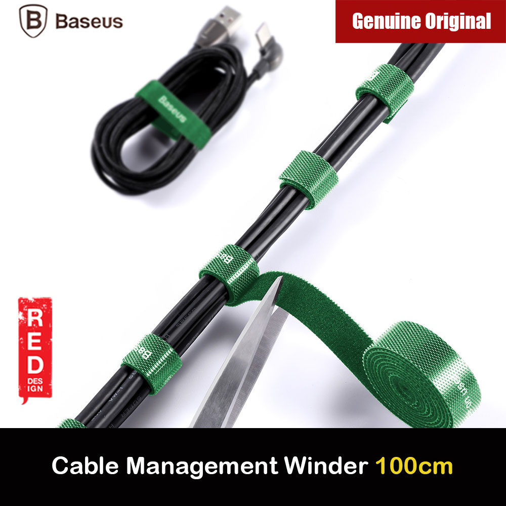 Picture of Baseus Cable Management Winder Velcro hook and loop fastener free cut strap strong velcro Strap (Green 100cm) Red Design- Red Design Cases, Red Design Covers, iPad Cases and a wide selection of Red Design Accessories in Malaysia, Sabah, Sarawak and Singapore