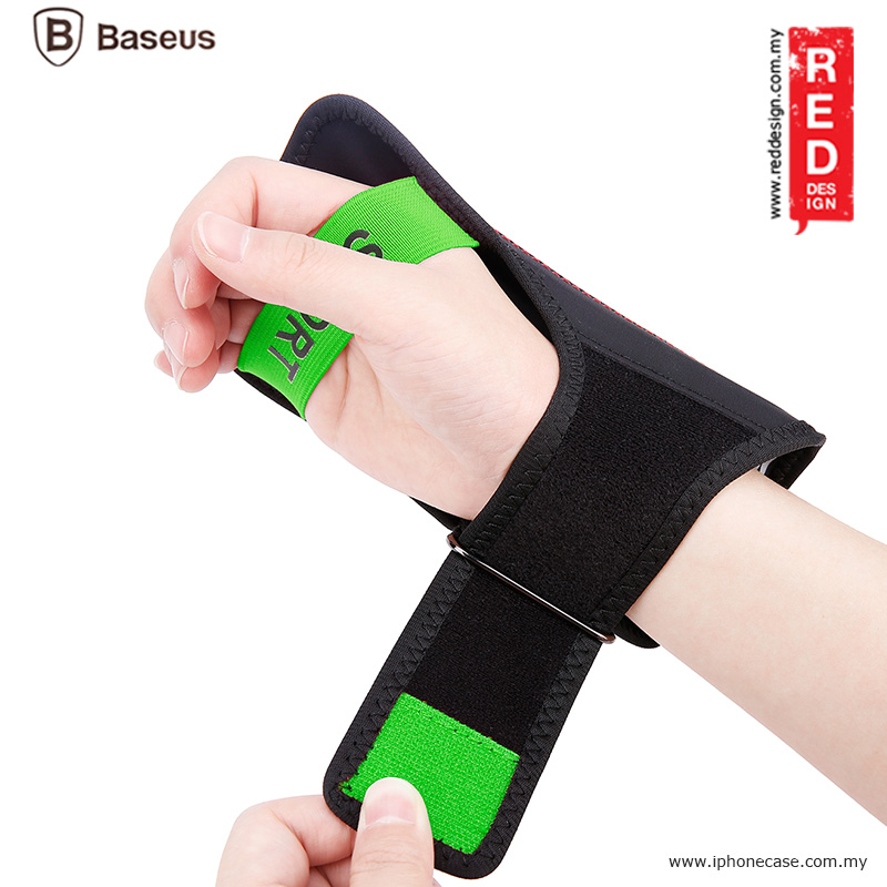 "Picture of Baseus Flexible Wristband for Smartphone up to 5"" iPhone 7 iPhone 6 iPhone SE - Black Green"