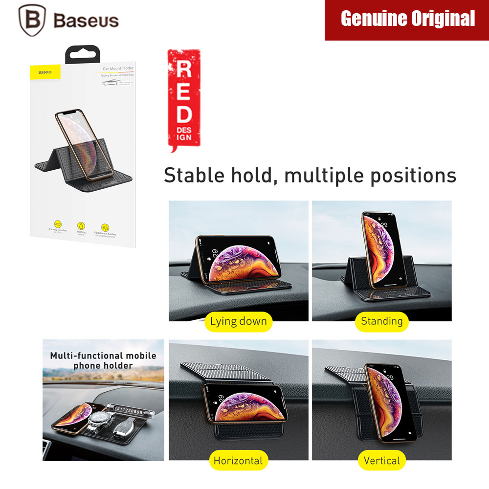 Picture of Baseus Folding Bracket Antiskid Pad Car Dashboard Mount Holder (Black) Red Design- Red Design Cases, Red Design Covers, iPad Cases and a wide selection of Red Design Accessories in Malaysia, Sabah, Sarawak and Singapore