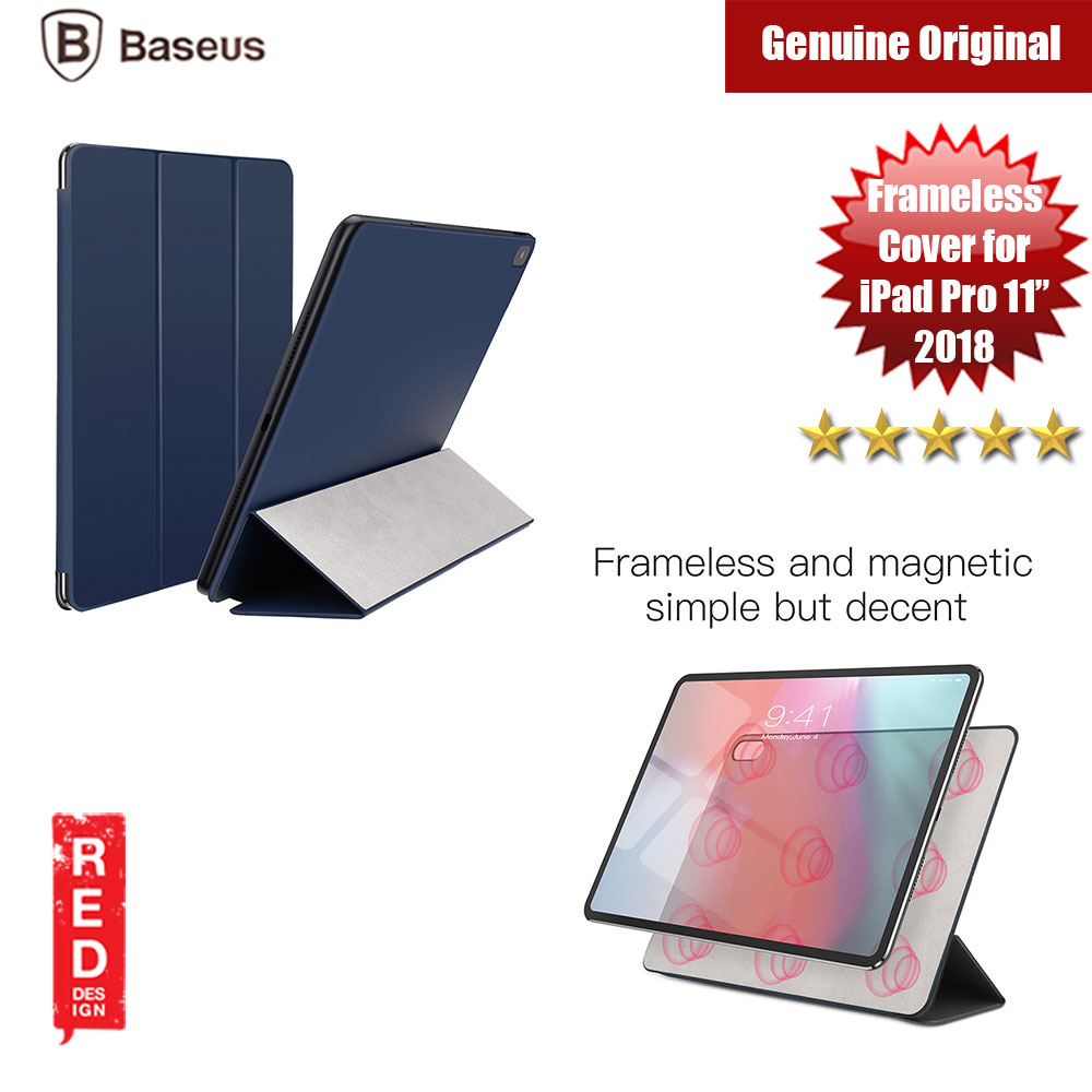 "Picture of Baseus Simplism Y Type Leather Case For iPad Pro 11"" 2018 (Blue) Apple iPad Pro 11.0 2018- Apple iPad Pro 11.0 2018 Cases, Apple iPad Pro 11.0 2018 Covers, iPad Cases and a wide selection of Apple iPad Pro 11.0 2018 Accessories in Malaysia, Sabah, Sarawak and Singapore"