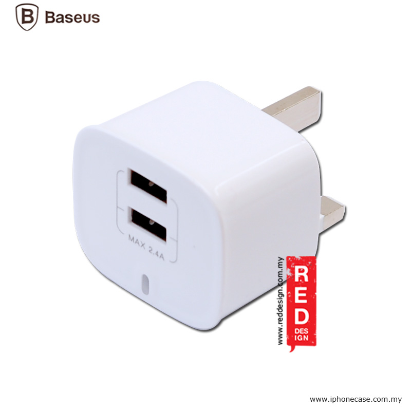 Picture of Baseus Funzi Dual USB Smart Charger (UK) 2.4A max output