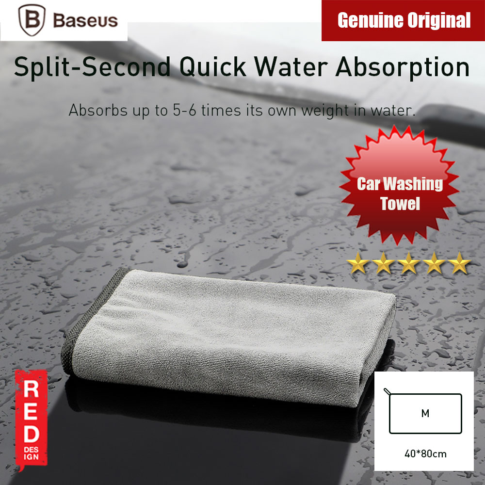 Picture of Baseus Car Washing Towel Water Absorption Towel 40 x 80 cm Red Design- Red Design Cases, Red Design Covers, iPad Cases and a wide selection of Red Design Accessories in Malaysia, Sabah, Sarawak and Singapore
