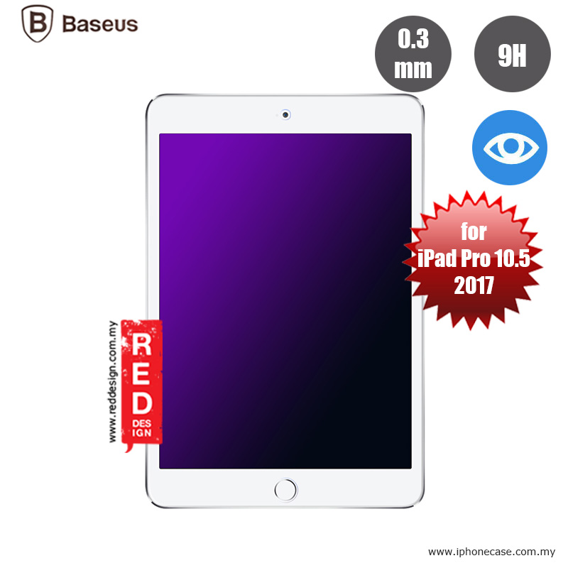 Picture of Apple iPad Pro 10.5 2017  | Baseus Tempered Glass for Apple iPad Pro 10.5 2017 - with Anti Blue Ray 0.3mm