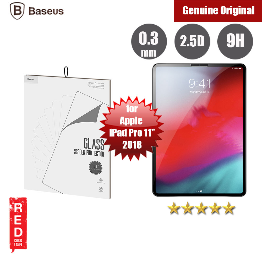 "Picture of Baseus Tempered Glass for Apple iPad Pro 11"" 2018 (0.3mm) Apple iPad Pro 11.0 2018- Apple iPad Pro 11.0 2018 Cases, Apple iPad Pro 11.0 2018 Covers, iPad Cases and a wide selection of Apple iPad Pro 11.0 2018 Accessories in Malaysia, Sabah, Sarawak and Singapore"
