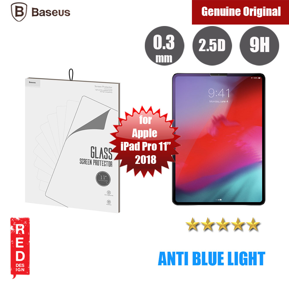 "Picture of Baseus Tempered Glass for Apple iPad Pro 11"" 2018 (0.3mm) with Anti Blue Light Apple iPad Pro 11.0 2018- Apple iPad Pro 11.0 2018 Cases, Apple iPad Pro 11.0 2018 Covers, iPad Cases and a wide selection of Apple iPad Pro 11.0 2018 Accessories in Malaysia, Sabah, Sarawak and Singapore"