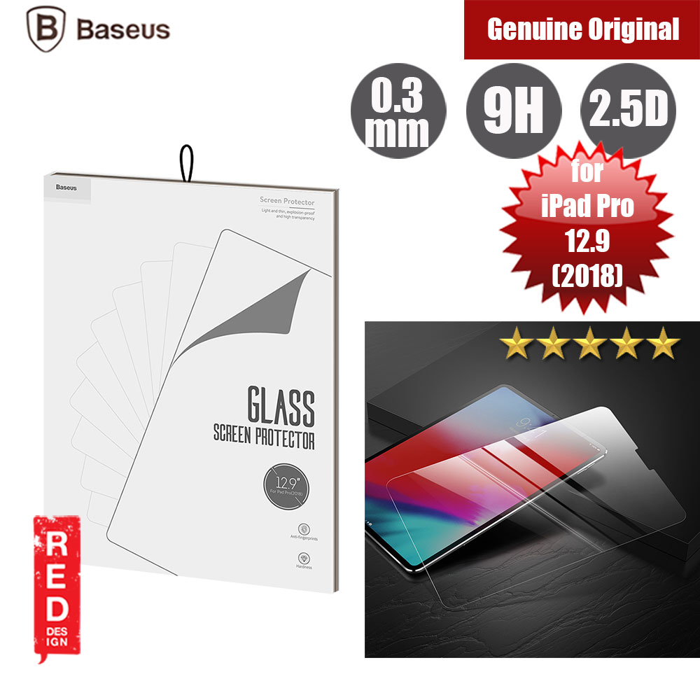 "Picture of Baseus Tempered Glass for Apple iPad Pro 12.9"" 2018 (0.3mm) Apple iPad Pro 12.9 2018- Apple iPad Pro 12.9 2018 Cases, Apple iPad Pro 12.9 2018 Covers, iPad Cases and a wide selection of Apple iPad Pro 12.9 2018 Accessories in Malaysia, Sabah, Sarawak and Singapore"