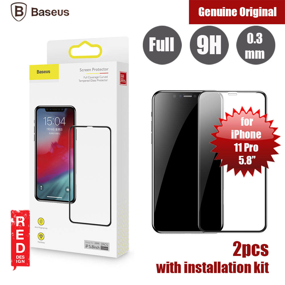 Picture of Baseus 3D Full Coverage Tempered Glass for Apple iPhone 11 Pro 5.8 (Black) Apple iPhone 11 Pro 5.8- Apple iPhone 11 Pro 5.8 Cases, Apple iPhone 11 Pro 5.8 Covers, iPad Cases and a wide selection of Apple iPhone 11 Pro 5.8 Accessories in Malaysia, Sabah, Sarawak and Singapore