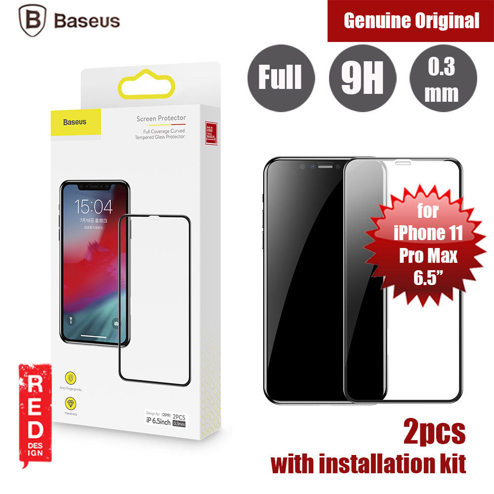 Picture of Baseus 3D Full Coverage Tempered Glass for Apple iPhone 11 Pro Max 6.5 (Black) Apple iPhone 11 Pro Max 6.5- Apple iPhone 11 Pro Max 6.5 Cases, Apple iPhone 11 Pro Max 6.5 Covers, iPad Cases and a wide selection of Apple iPhone 11 Pro Max 6.5 Accessories in Malaysia, Sabah, Sarawak and Singapore