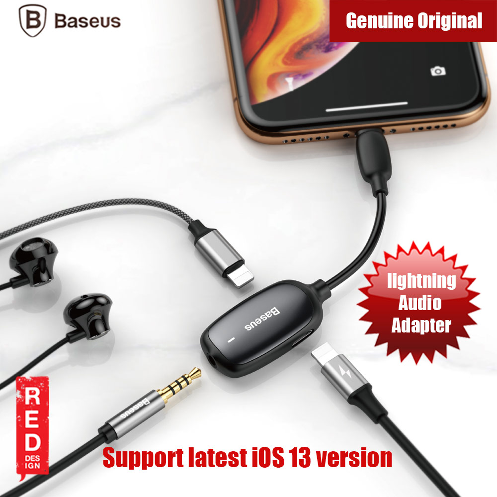 Picture of Baseus Audio Converter Ligntning MALE to 3.5mm and Dual Ligntning FEMALE Audio and Charging Adapter Gaming Listenning while charging for iPhone 8 iPhone XS Max iPhone 11 Pro Max Red Design- Red Design Cases, Red Design Covers, iPad Cases and a wide selection of Red Design Accessories in Malaysia, Sabah, Sarawak and Singapore