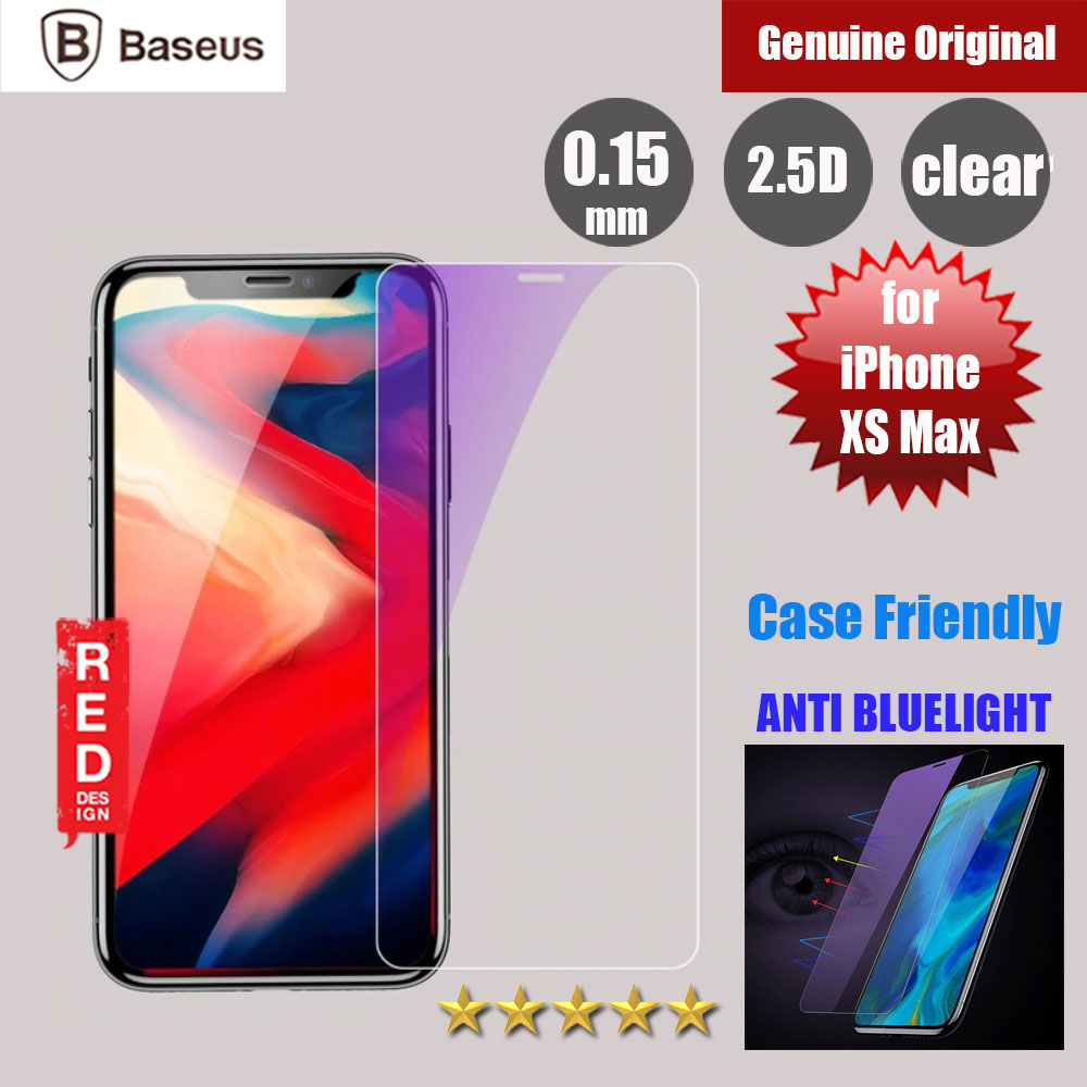 Picture of Baseus Case Friendly Tempered Glass for Apple iPhone XS Max Anti Blue Light (0.15mm Clear) Apple iPhone XS Max- Apple iPhone XS Max Cases, Apple iPhone XS Max Covers, iPad Cases and a wide selection of Apple iPhone XS Max Accessories in Malaysia, Sabah, Sarawak and Singapore