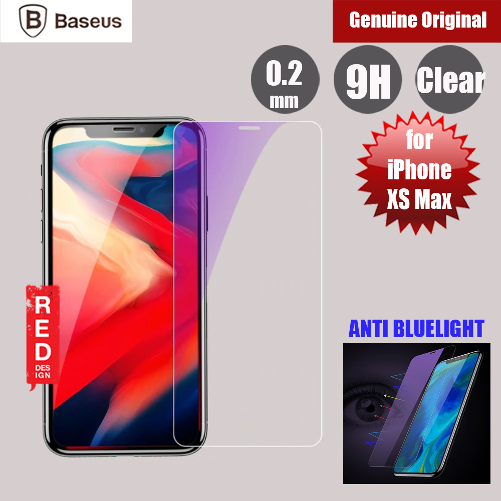 Picture of Baseus Case Friendly Tempered Glass for Apple iPhone XS Max Anti Blue Light (0.2mm Clear) Apple iPhone XS Max- Apple iPhone XS Max Cases, Apple iPhone XS Max Covers, iPad Cases and a wide selection of Apple iPhone XS Max Accessories in Malaysia, Sabah, Sarawak and Singapore