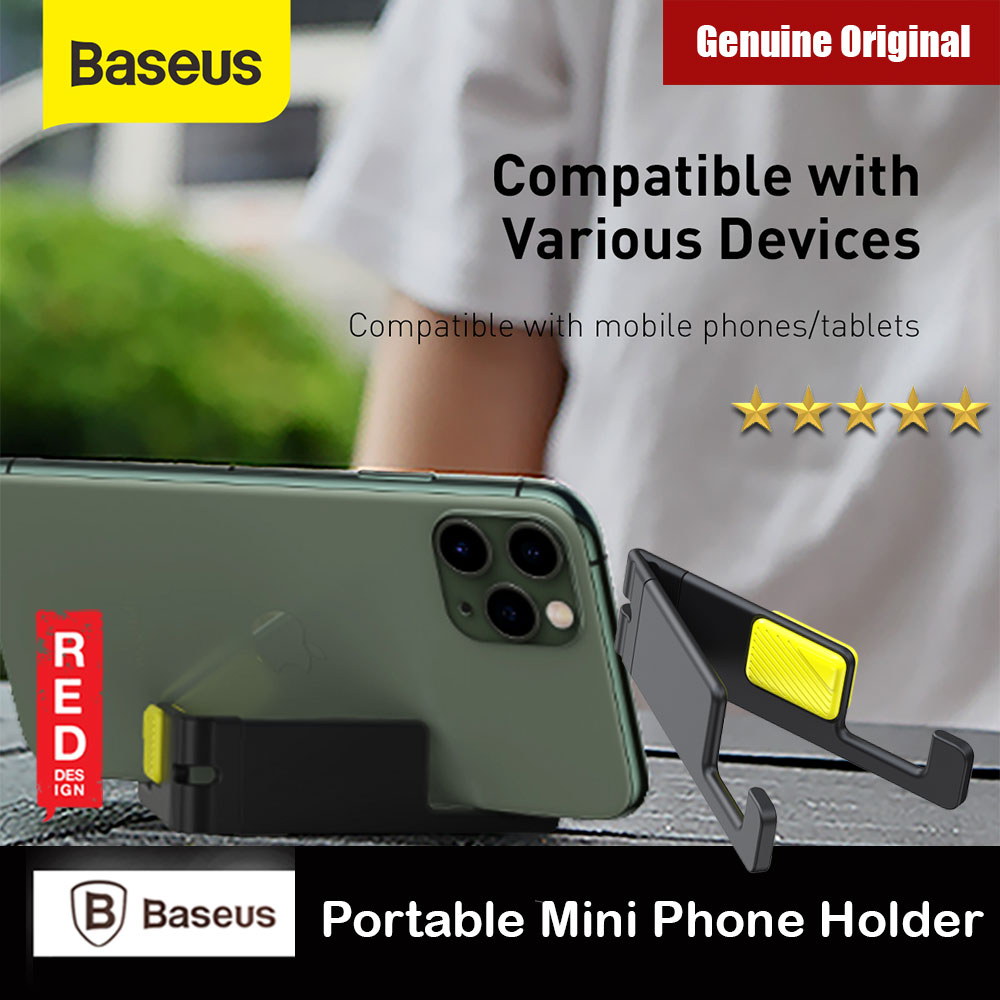 Picture of Baseus Letgo Series Portable Foldable Mini Phone Holder for Phone (Grey Yellow) Red Design- Red Design Cases, Red Design Covers, iPad Cases and a wide selection of Red Design Accessories in Malaysia, Sabah, Sarawak and Singapore