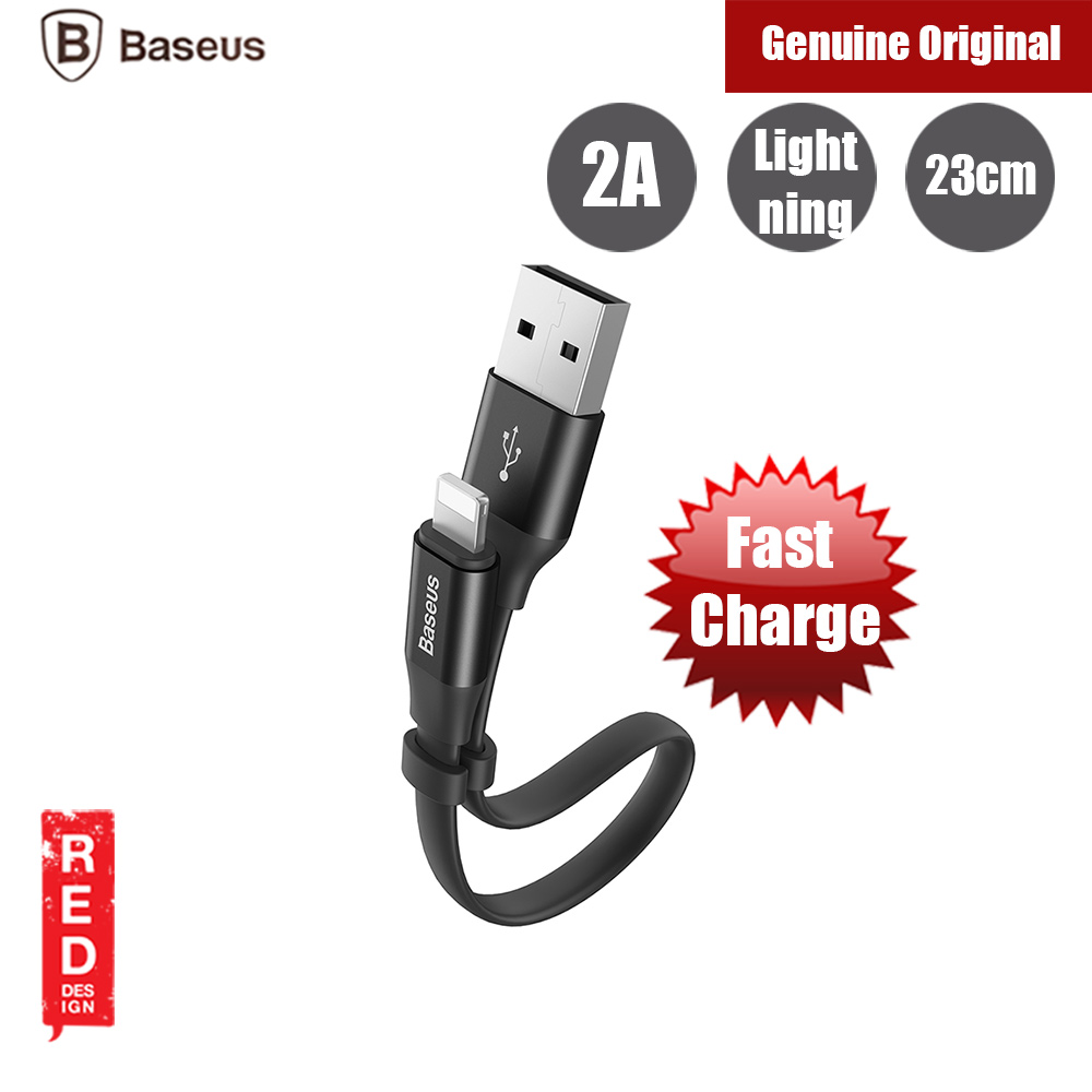 Picture of Baseus 2A Quick Charge Short Lightning Cable for iPhone XS Max XR XS 23cm (Black) Red Design- Red Design Cases, Red Design Covers, iPad Cases and a wide selection of Red Design Accessories in Malaysia, Sabah, Sarawak and Singapore