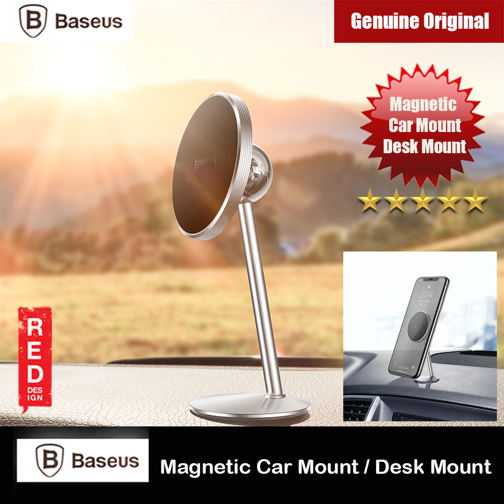 Picture of Baseus Little Sun Series Magnetic 360 Degree Rotatable Dashboard Car Mount Desktop Mount Online Class Live Class Phone Stand (Silver) Red Design- Red Design Cases, Red Design Covers, iPad Cases and a wide selection of Red Design Accessories in Malaysia, Sabah, Sarawak and Singapore