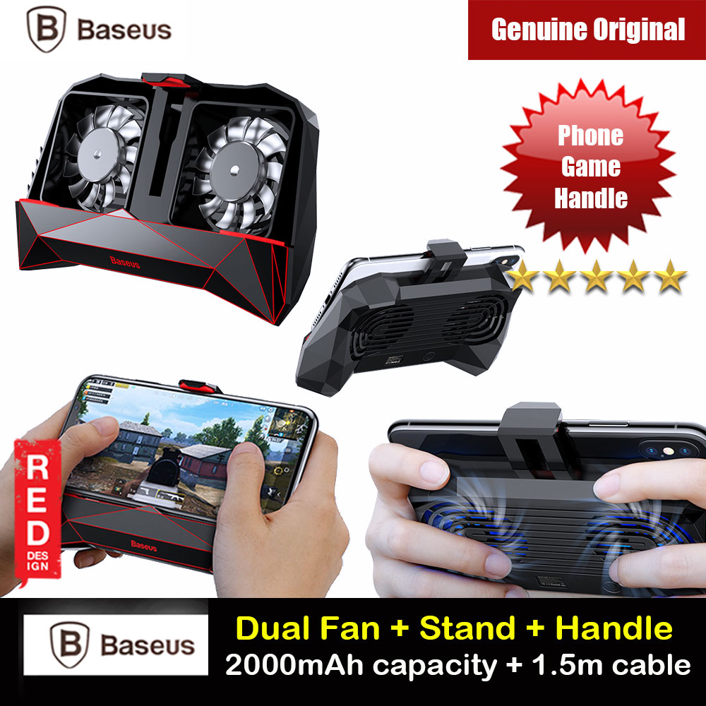 Picture of Baseus Magic Monster Games Dissipate Heat Cooling Cooler Hand Handle (Black) Red Design- Red Design Cases, Red Design Covers, iPad Cases and a wide selection of Red Design Accessories in Malaysia, Sabah, Sarawak and Singapore