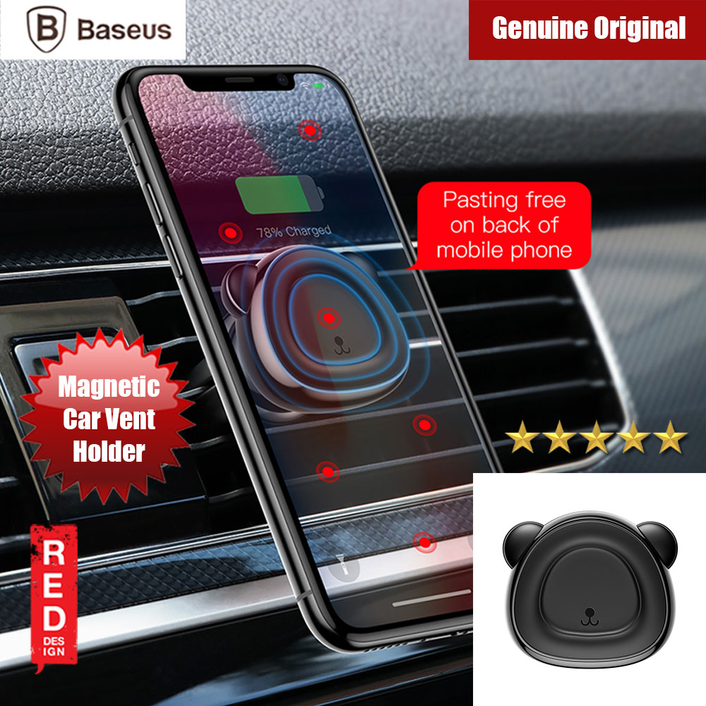 Picture of Baseus Little Bear Series Strong Magnetic Air Con Vent Suction Bracket Car Mount (Black) Red Design- Red Design Cases, Red Design Covers, iPad Cases and a wide selection of Red Design Accessories in Malaysia, Sabah, Sarawak and Singapore