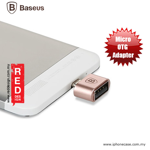 Picture of Baseus Micro USB OTG Adapter for Android Smartphone - Rose Gold Red Design- Red Design Cases, Red Design Covers, iPad Cases and a wide selection of Red Design Accessories in Malaysia, Sabah, Sarawak and Singapore