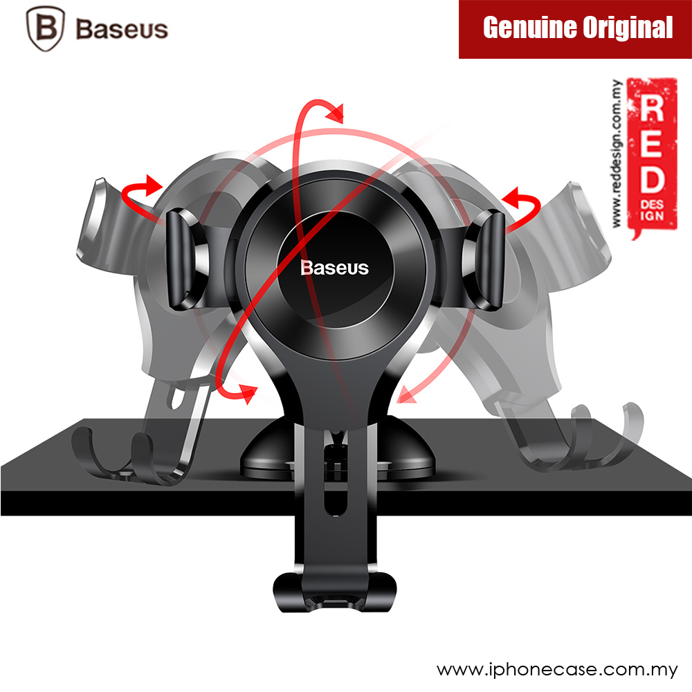 Picture of Baseus Osculum Type Universal Gravity Desktop Windscreen Car Mount for Smartphone up to 6 inches (Black)