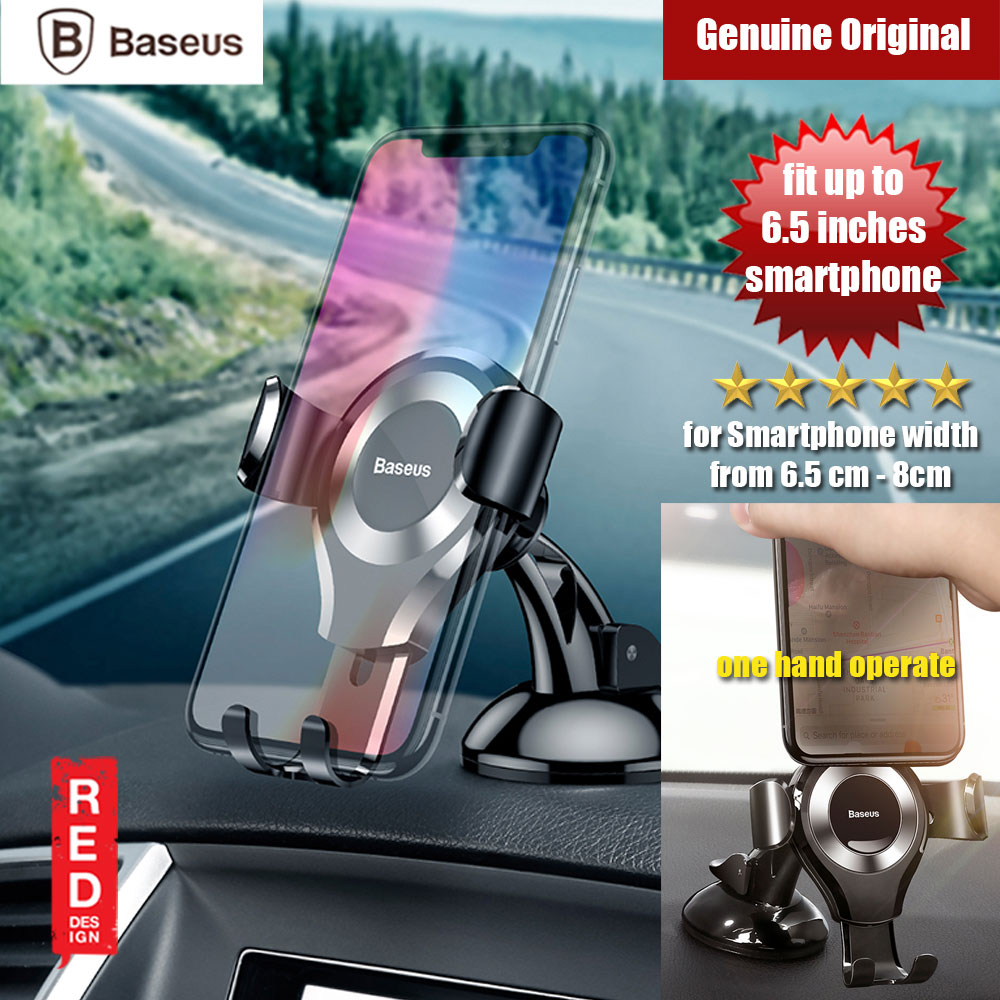 Picture of Baseus Osculum Type Universal Gravity Desktop Windscreen Car Mount for Smartphone up to 6 inches (Silver Black) Red Design- Red Design Cases, Red Design Covers, iPad Cases and a wide selection of Red Design Accessories in Malaysia, Sabah, Sarawak and Singapore