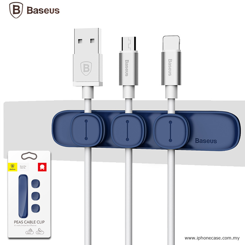 Picture of BASEUS Peas Magnetic Cable Clip USB Cord Holder Wire Management - Blue