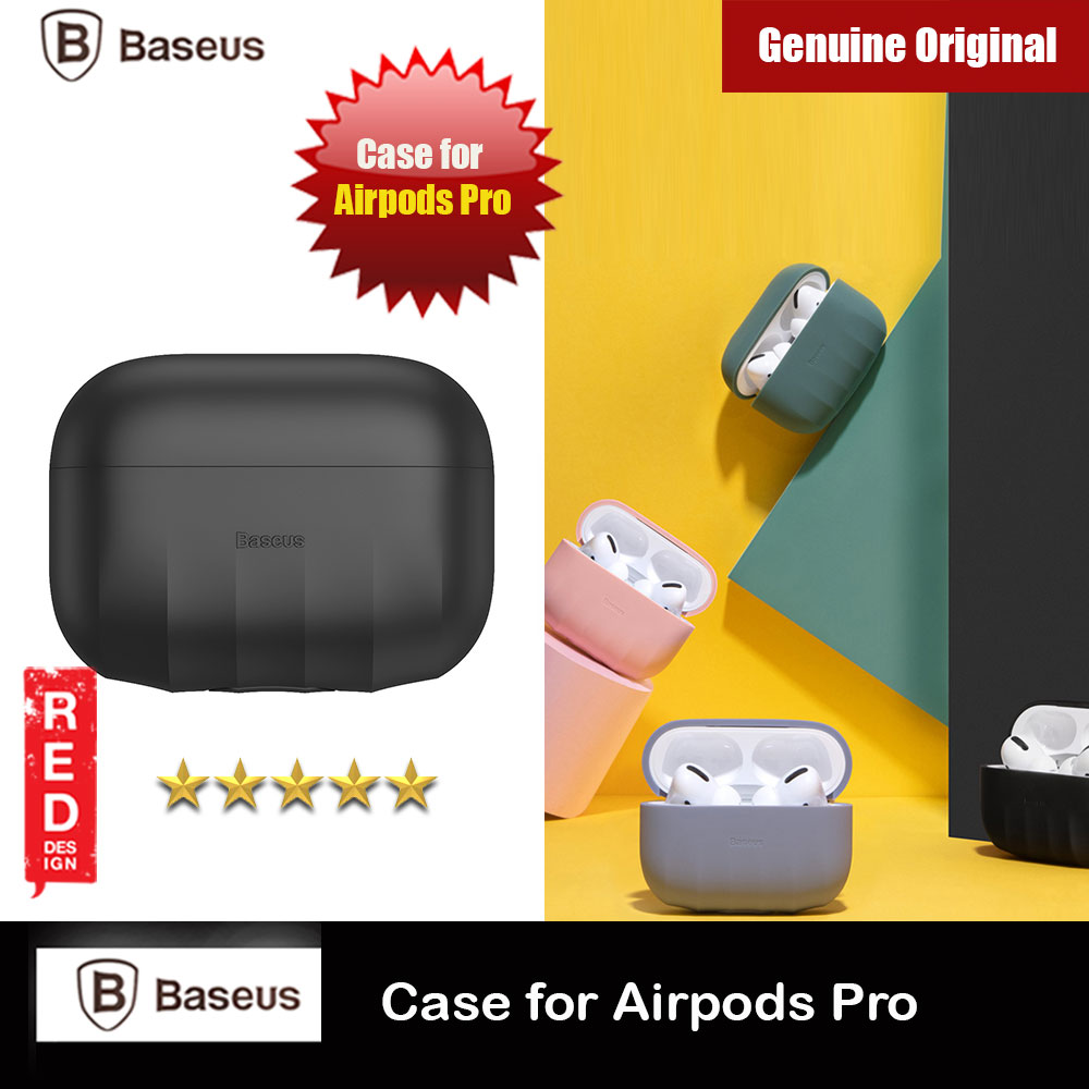 Picture of Baseus Shell Pattern Silica Gel Case Soft Case for Airpods Pro (Black) Apple Airpods Pro- Apple Airpods Pro Cases, Apple Airpods Pro Covers, iPad Cases and a wide selection of Apple Airpods Pro Accessories in Malaysia, Sabah, Sarawak and Singapore