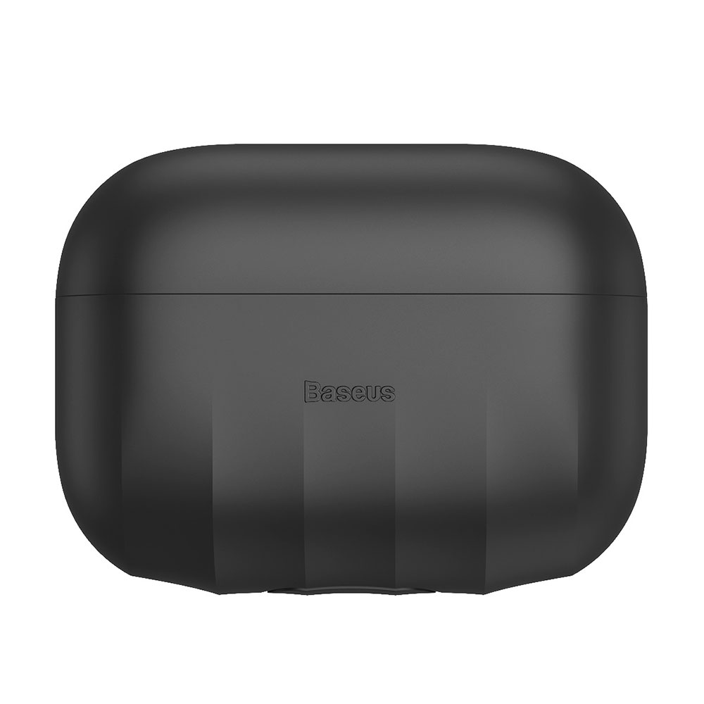 Picture of Apple Airpods Pro Case | Baseus Shell Pattern Silica Gel Case Soft Case for Airpods Pro (Black)