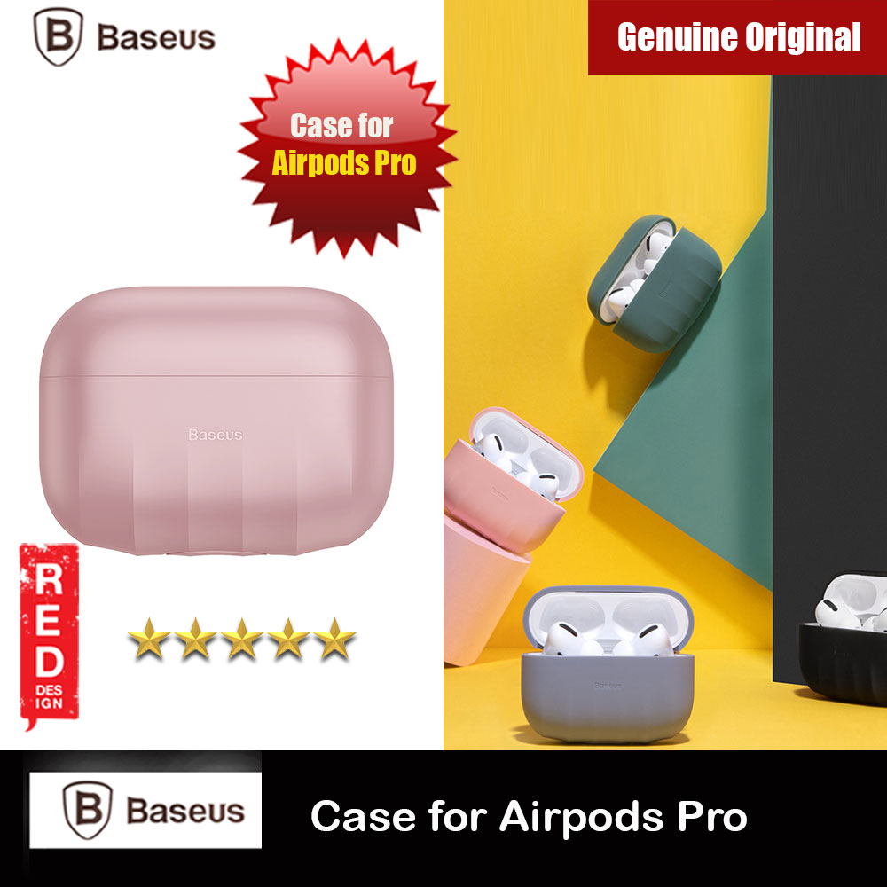 Picture of Baseus Shell Pattern Silica Gel Case Soft Case for Airpods Pro (Pink) Apple Airpods Pro- Apple Airpods Pro Cases, Apple Airpods Pro Covers, iPad Cases and a wide selection of Apple Airpods Pro Accessories in Malaysia, Sabah, Sarawak and Singapore