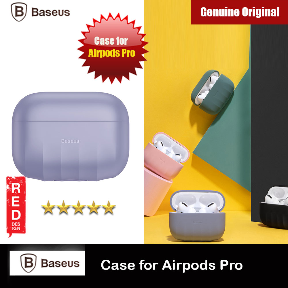 Picture of Baseus Shell Pattern Silica Gel Case Soft Case for Airpods Pro (Purple) Apple Airpods Pro- Apple Airpods Pro Cases, Apple Airpods Pro Covers, iPad Cases and a wide selection of Apple Airpods Pro Accessories in Malaysia, Sabah, Sarawak and Singapore