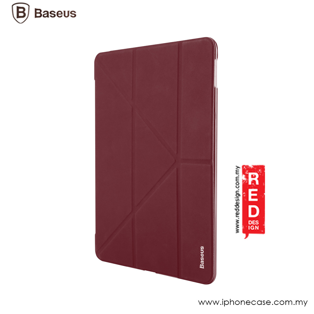 Picture of Apple iPad Pro 10.5 2017 Case | Baseus Simplism Y - Type Standable Case for Apple iPad Pro 10.5 2017 - Red Wine